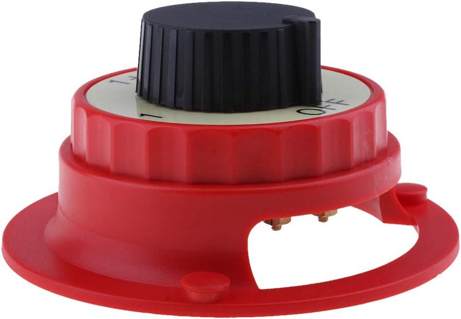H HILABEE Marine Boat//RV Mini Interruptor Selector De Bater/ía Dual 1 Ambos 2 Apagado