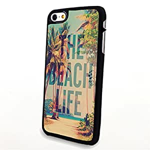 Generic Phone Accessories Matte Hard Plastic Phone Cases Quote The Beach Life fit for Iphone 6
