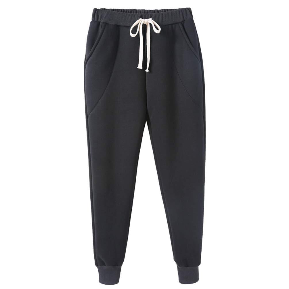 Tookang Mujer Otoño/Invierno Pantalones Gruesos Los Pantalones Tamaño Grande Pantalones Holgados Sueltos Pantalones De Felpa