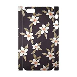 Red Hawaii Flower DIY 3D Cover Case for Iphone 5,5S,personalized phone case ygtg607268