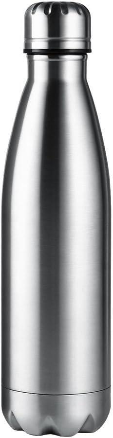 500ml Botella de Agua de Acero Inoxidable Mantener Sus Bebidas Calientes y Frías, Aislamiento Al Vacío Deporte Botella Térmica de Libre BPA Para Gimnasio,Correr,Yoga, Ciclismo,al Aire Libre y Camping