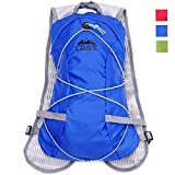 Hydration Backpack 1.5L Water Bladder Cycling Running Hiking Pack. Fits Men Women Children. (Blue)