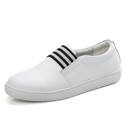 Cuero Aman De Blanco Los Zapatos las Primavera Mujeres qS35cjAR4L