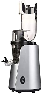Fruit and Vegetable Electric Juicer, Slow Chewing Juicer With Juice and Pulp Separation Function Quiet 50 RPM Motor and Reverse Function for Easy Cleaning