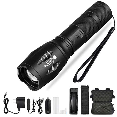 Super bright Flashlight With XP L V6 lamp bead waterproof Torch Zoomable 5 lighting modes camping light Use 18650,Package C,China,T6-low brightness