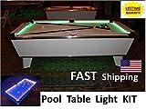 White LED Pool Table Light - Bumper Light KIT