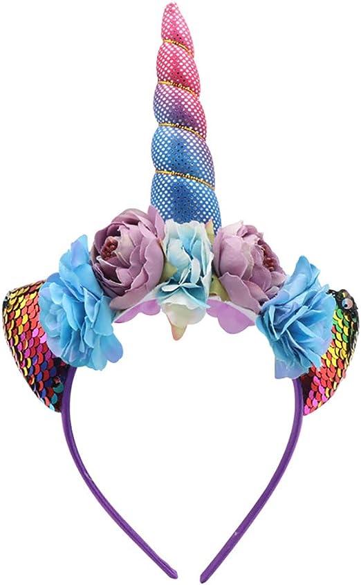 Wind Goal Diadema con diseño de Corona de Unicornio para niña ...