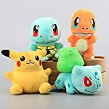 Pokemon-Pikachu-Bulbasaur-Squirtle-Charmander-Set-of-4-pcs-Soft-Plush-Figure-Toy-Anime-Stuffed-Animal-Child-Gift-Doll
