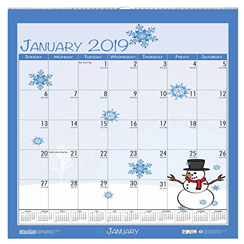 House of Doolittle 2019 Monthly Wall Calendar, Seasonal, 12 x 12 Inches, January - December (HOD338-19)