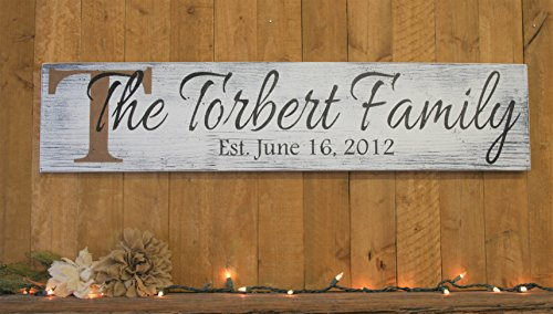 Wood Sign Personalized Sign Family Name Sign Wedding Gift Bridal Shower Gift Housewarming Gift Anniversary Gift