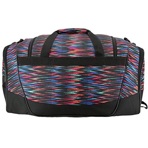 adidas 104385 Defender II Small Duffel Bag, One Size, Black Twister/Black/Shock Pink
