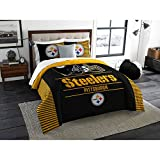 NFL Pittsburgh Steelers ''Draft'' King Bedding Comforter Set