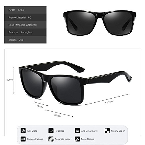 lunettes Unisexe GAOLIXIA conduite Polarized de affaires Black soleil Fashion wICCPxqndp