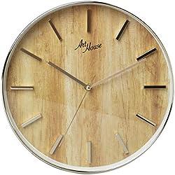 Relógio de Parede Madeira Gold 30 cm Analógico