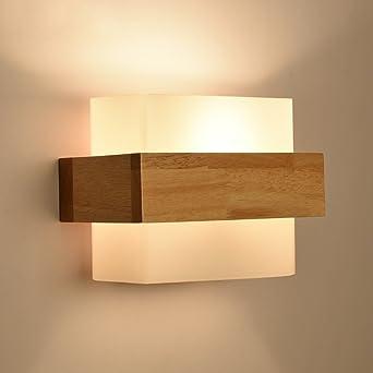 Good thing Wandleuchte Moderne minimalistische Glas Holz Wand Lampe ...