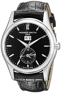 Frederique Constant Men's FC-325B6B6 Index Black Leather Strap Watch