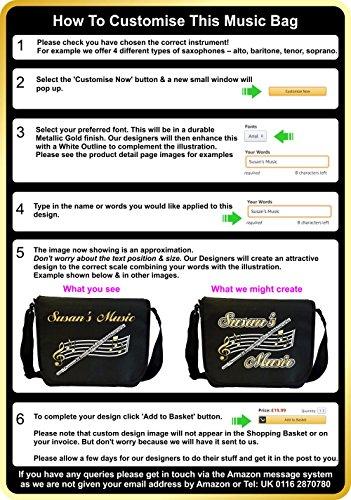 Music Notation Alto or Tenor Clef - Angefertigt Personalisiertes Sheet Music Document Bag Musik Noten Tasche MusicaliTee cTJeIwKaYA