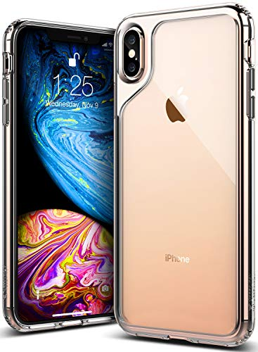 Caseology for iPhone Xs Max Case [Waterfall Series] - Slim Clear Transparent Protective Shock Absorbing Air Space Technology Design Case for iPhone Xs Max 6.5 (2018) - Clear from Caseology
