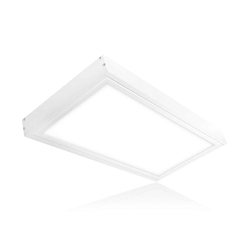 Lampada da soffitto pannello LED 60x 30cm 20W LED lampada da soffitto con la costruzione della cornice colore della luce, reversibile bianco caldo bianco neutro bianco freddo per montaggio a soffitto enec Serie pls2.0 [Classe di efficienza energetica A+