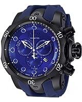 Invicta Mens Reserve Venom Monotone Swiss Made Chronograph Black IP Case Blue Watch 11972