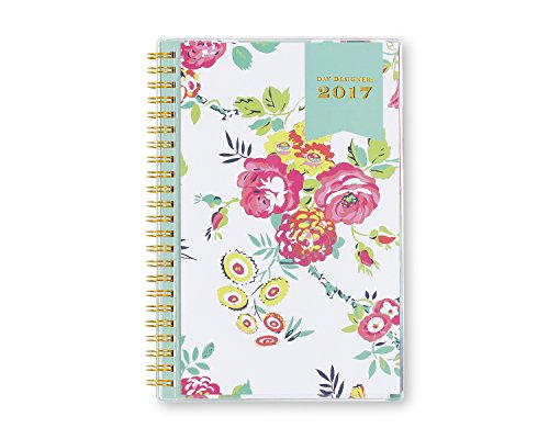 """Day Designer for Blue Sky """"White Floral"""" CYO (Create Your Own) Cover 5 x 8 Weekly/Monthly Planner, Jan 2017 - Dec 2017"""