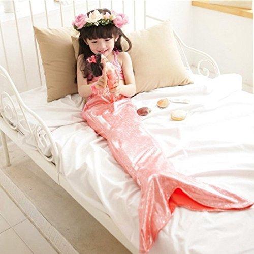 Lovely Little Girls Mermaid Swimsuit Bikini Swimwear 3pcs Set (110(3-4T), Pink)