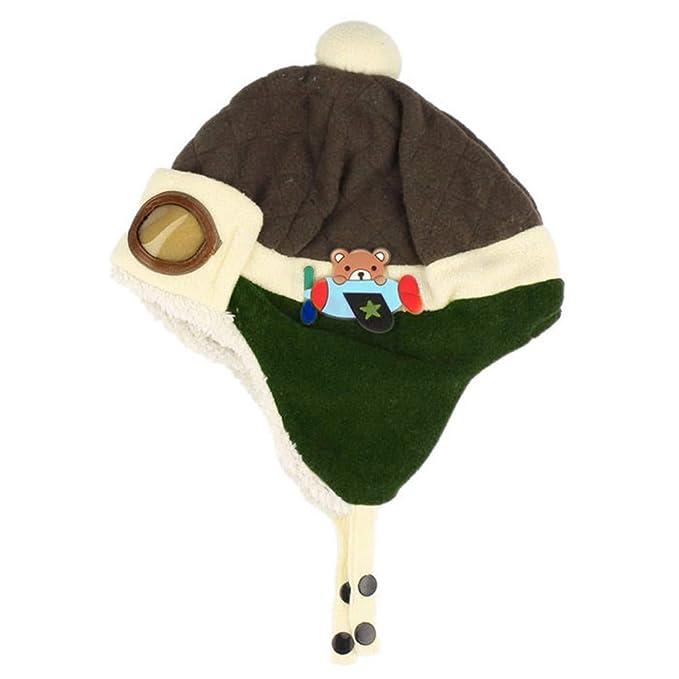 Wintermütze Baby Warme Fleecefutter Mütze Häkeln Earflap Lamm