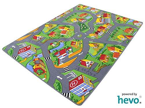 Stadt Land Fluss HEVO ® Teppich | Kinderteppich | Spielteppich 145x200 cm