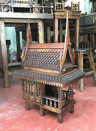Super Large Thai Buddhist Wood Carving for Spiritual Haunted Spirit House Temple, Products From Thailand by WADSUWAN SHOP