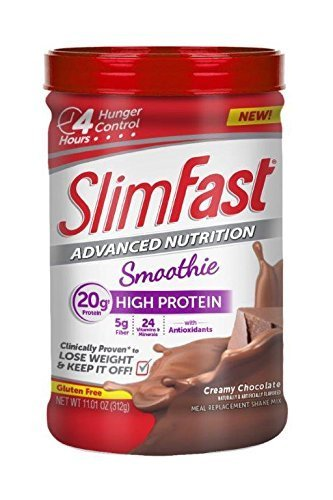 slim-fast-advanced-nutrition-high-protein-smoothie-powder-creamy-chocolate-1283-ounce-by-slimfast