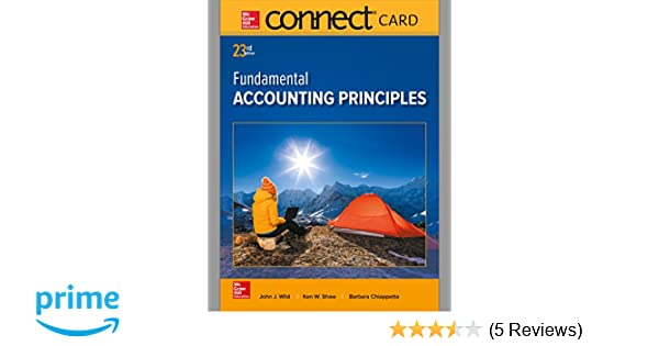 Connect access card for fundamental accounting principles john j connect access card for fundamental accounting principles john j wild 9781259693878 amazon books fandeluxe Images