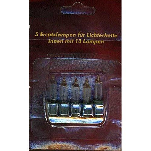 Ersatzlampen 5er 24V//0,72W f/ür 10er Mini-Lichterkette innen XI11963