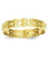 IceCarats 14k Yellow Gold Irish Claddagh Celtic Knot Wedding Ring Band