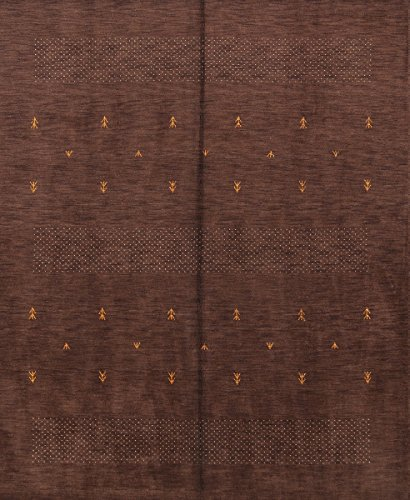 Rug Source One-of-A-Kind New Gabbeh Modern Tribal Hand-Knotted 8x10 Brown Wool Oriental Area Rug (10' 0