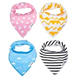 Clothes Old Navy Baby Best Deals - Baby Bandana Bib Set - 100% Organic Cotton Bibs - Extra Absorbent Teething & Drool Bibs with Adjustable Snaps | 4-Pack Unisex Gift Set with a Premium Pacifier Clip for Baby Girl & Boy by Ado Glo