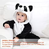 MICHLEY Unisex Baby Winter Hooded Romper Flannel