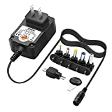 ZOZO 24W 3V 4.5V 5V 6V 7.5V 9V 12V Switching Replacement AC DC Power Adapter Charger Supply for Routers Speakers IP Cameras USB HUB Android Tablets Charging Cord Changable Connectors