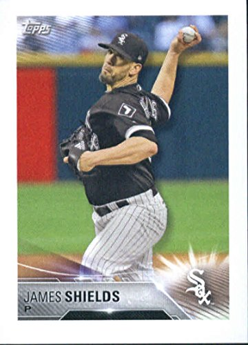 2018 Topps MLB Baseball Sticker Collection #125 James Shields Chicago White Sox Paper Thin 2 by 3 inch Stickers for Album