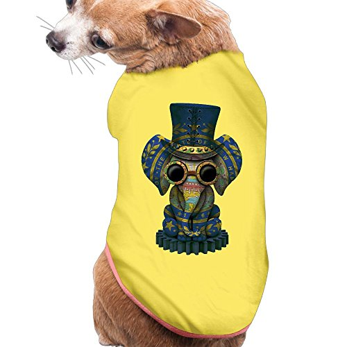 MiiksL Magician Elephant New Hampshire Dogs Shirt Puppy Clothes Pets (Hampshire Halloween Costumes)
