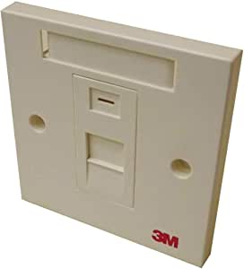 3M - Network Face Plate for Wall Box 85x85mm Single Shutter
