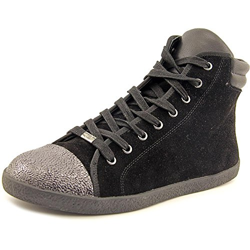 Delman Women's Merge Fashion Sneaker,Black,7.5 M US