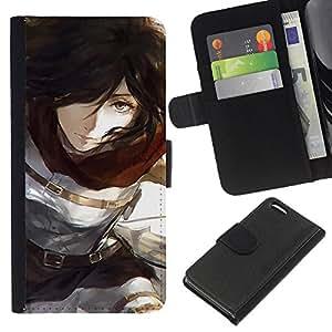 All Phone Most Case / Oferta Especial Cáscara Funda de cuero Monedero Cubierta de proteccion Caso / Wallet Case for Apple Iphone 5C // Brunette Girl