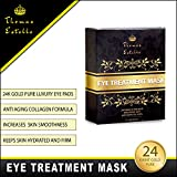 Under Eye Bags Treatment - Gel For Puffiness, Wrinkles, Dark Circles, Crows Feet, Puffy Eyes -24k Gold Luxury - The Best Natural Collagen Mask - Women And Men Masks - Anti Aging Moisturizer Pads