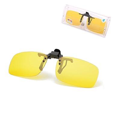 JFan Gafas de Sol con Clip Unisex Polarizadas Rectangulares ...
