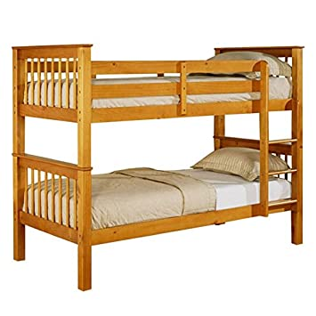 New Devon 3ft Single Solid Wooden Pine Bunk Bed Adults Childrens