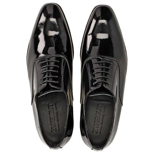 Zweigut Piekfein #102w, Chaussures à lacets homme lackschwarz