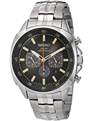 Seiko Mens Quartz Stainless Steel Casual Watch, Color:Silver-Toned (Model: SSC511)