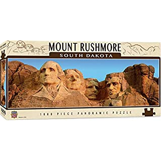 MasterPieces National Parks Panoramic Jigsaw Puzzle, Mount Rushmore, South Dakota, Photographs by Christopher Gjevre, 1000 Pieces