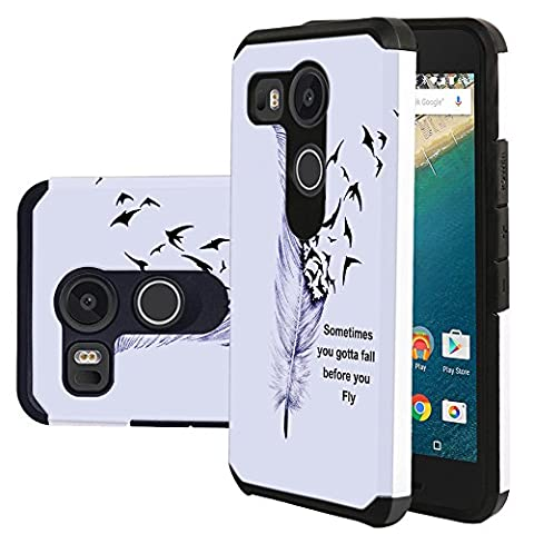 Nexus 5X Case, Harryshell(TM) Shock Absorption Hybrid Dual Layer Armor Defender Protective Case Cover for LG Google Nexus 5X / 5 2nd (Lg Nexus 5 Cases For Girls)