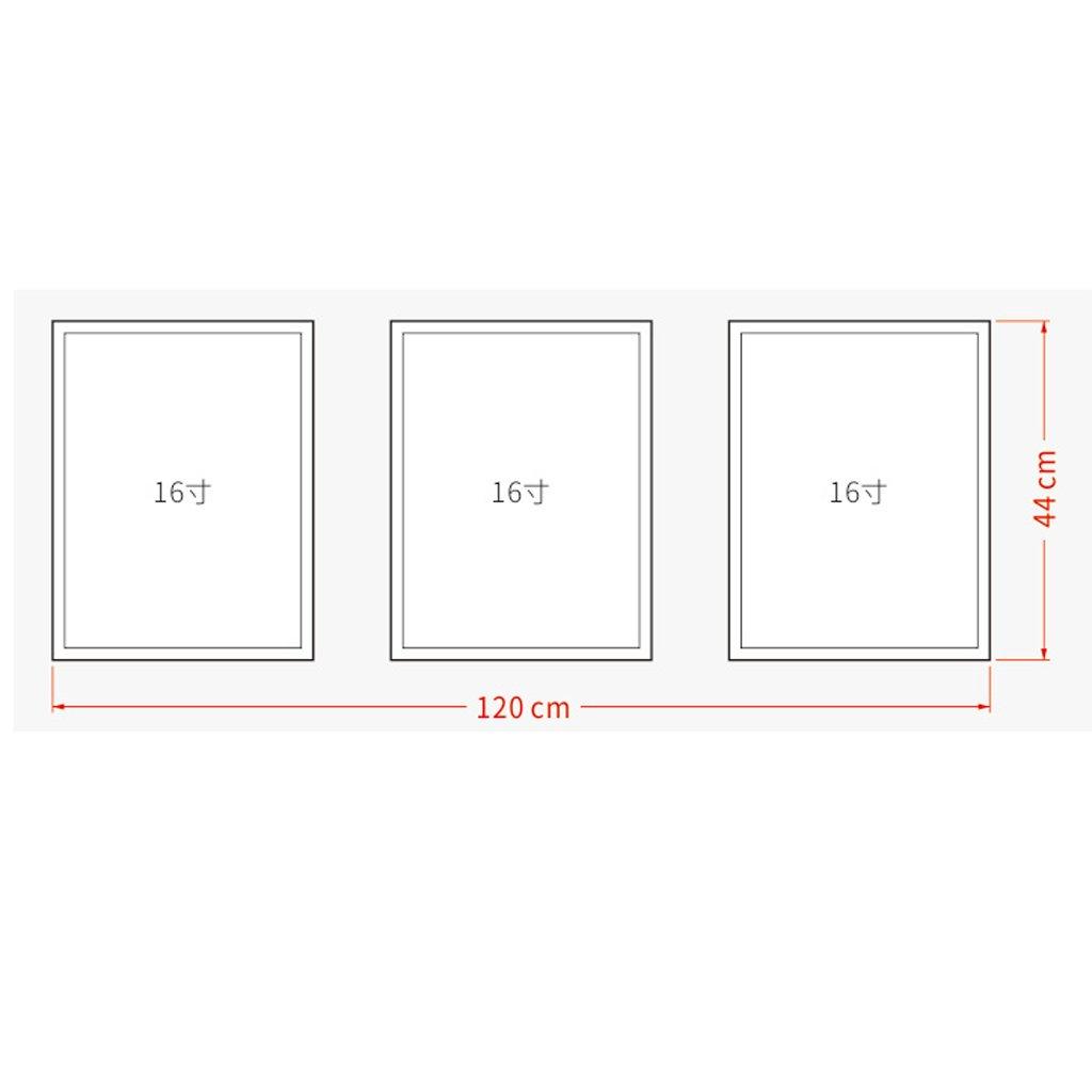 3 Frame Black And White Photo Frame Wood Color Triple Living Room Sofa Restaurant 16 Inch 33 44cm ( Color : Black ) by Boyang (Image #2)